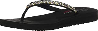 Skechers Women's Meditation-Perfect 10-Square Rhinestone Embellished Thong Flip-Flop