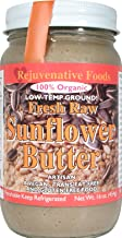 Fresh Raw Smooth Organic Sunflower Seed Butter Pure Rejuvenative Foods Low-Temp-Ground Artisan-Ayurvedic-Vegan In-Glass Vitamin-Protein-Antioxidant-Mineral-Nutrition USDA-Certified-Organic-16oz