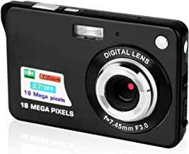 $42 » HD Digital Camera 2.7 LCD Rechargeable HD Digital Camera Compact Camera Pocket Digital Cameras 24 Mega Pixels with Zoom for Students/Adults (Black)