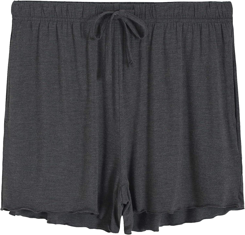 Latuza Women's Bamboo Viscose Pajama Bottoms Sleep Shorts with Pockets