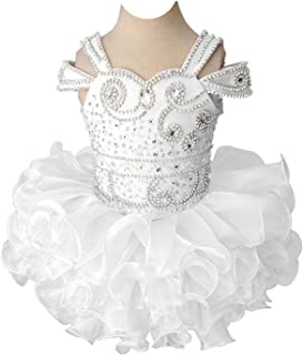 Baby Girl's Off Shoulder Beaded Glitz Mini Cupcakes Pageant Dress