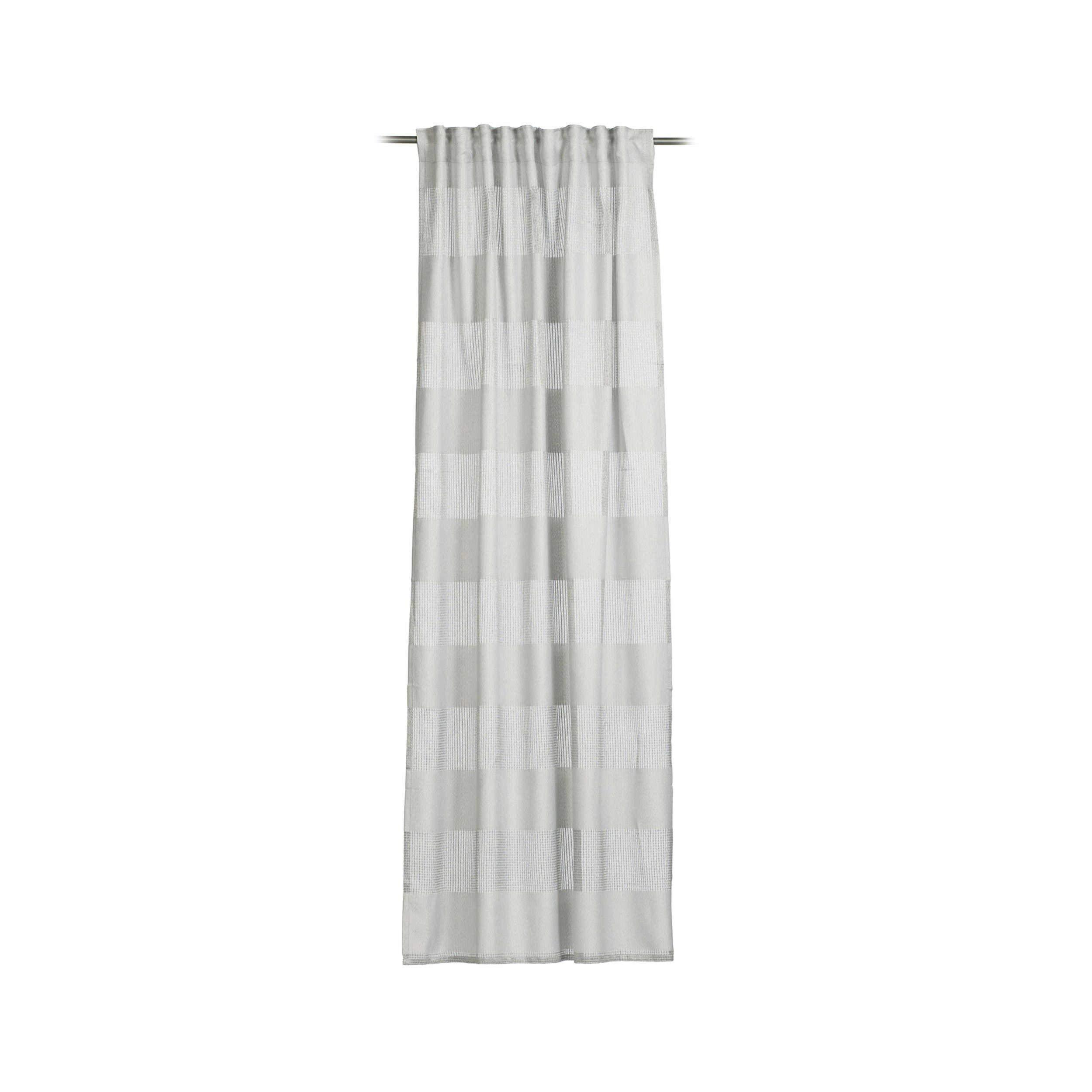 ALDOMO Rideau /à /œillets en Lin Gris chin/é 140 x 235 cm