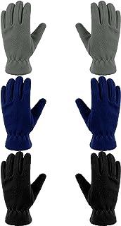 3 Pairs Kids Fleece Gloves Winter Warm Gloves for Boy Girl