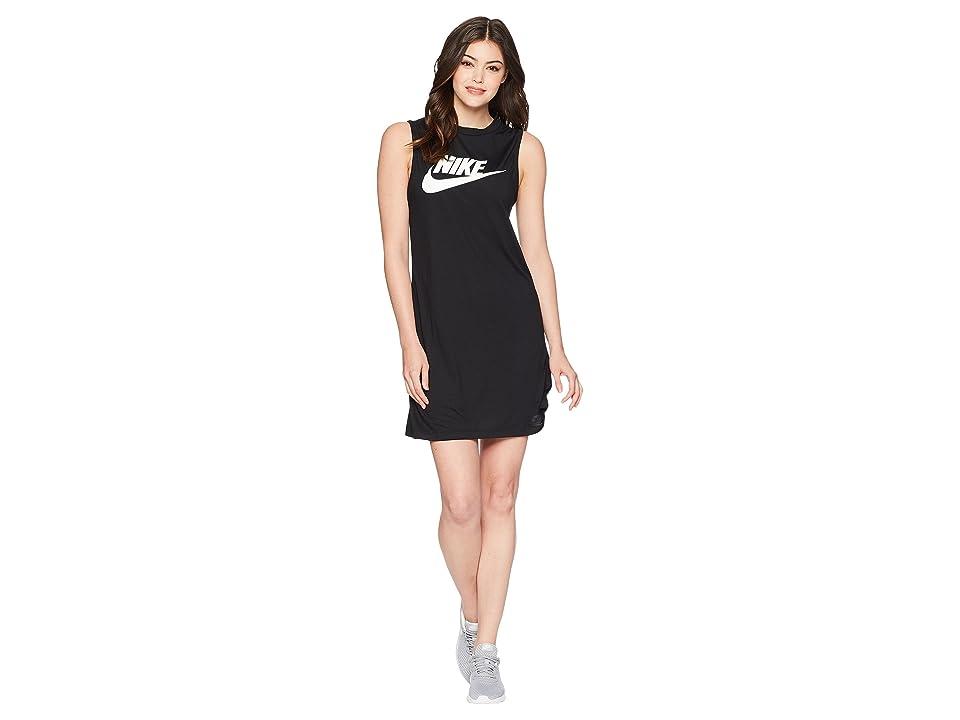 Nike Seasonal Tank Dress (Black/White) Women