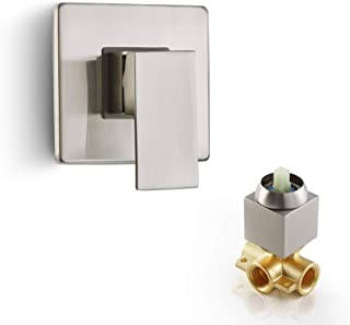 Dr Faucet Shower Mixer for Hot & Cold Water Bathroom Copper Shower Faucet Mixer Valve, Brushed Nickel Dr-1500BN