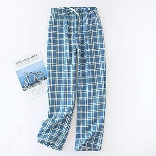 Pijamas Pantalones De Gasa De Algodón para Hombre, Pantalones De Dormir De Punto A Cuadros, Pijamas para Hombre, Pantalones, Ropa De Dormir, Pijama Corto para Hombre, Pijama