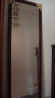 Specchio con cornice in legno.Dpinto a mano