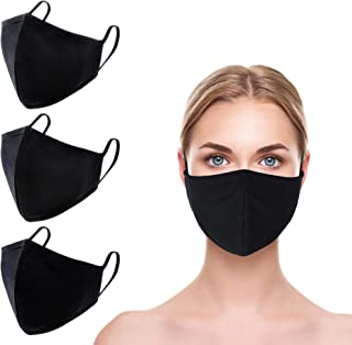3 Pack Made in USA Unisex 3D Face Mask – Protective, Reusable, Comfortable and Breathable Mouth and Nose Cover