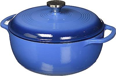 Lodge Dutch Oven 6 Qt. Cast Iron Blue