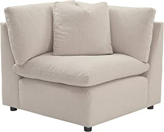 Signature Design by Ashley - Savesto Contemporary Sofa Wedge - Standalone or Sectional Component, Ivory