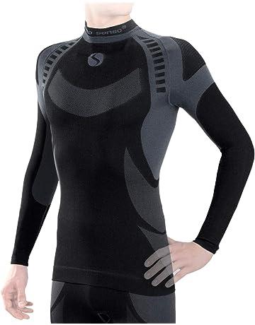 Maglia intima da sci da uomo per sport invernali e uso quotidiano traspirante SGS in diversi colori termica