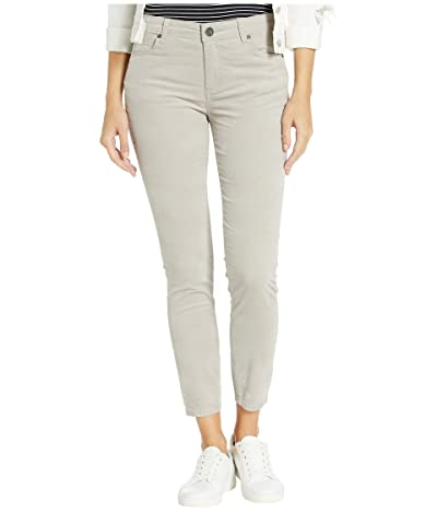 KUT from the Kloth Donna Ankle Skinny in Velvet in Silver (Silver) Women