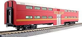Kato USA Model Train Products Pullman Rock Island #157 Bi-Level 4-Window Coach