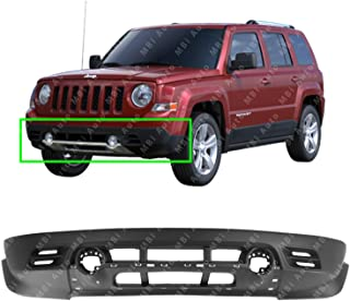 MBI AUTO - Textured, Front Lower Bumper Cover for 2011-2017 Jeep Patriot w/Fog Lights 11-17, CH1015113