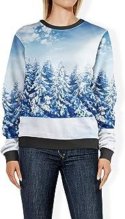 Rainbow Rules Winter Sun Landscape Womens Sweatshirt