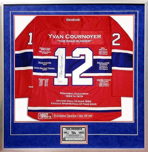 Generic Yvan Cournoyer voiturerière Jersey   199de 199 autographe des Canadiens de Montréal