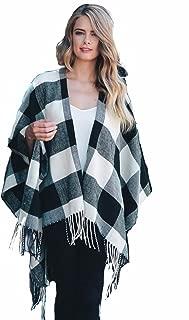Best black and white plaid shawl Reviews