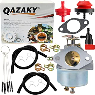 QAZAKY Carburetor Replacement for Tecumseh 632110 632111 632334 632370 632536 640105 632334A 632370A HM70 HM80 HMSK80 HMSK90 HM100 HMSK100 OHSK110 OHSK120 OHSK125 Snowblower Generator Chipper Shredder