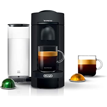 Nespresso by De'Longhi VertuoPlus Coffee and Espresso Machine by De'Longhi, Black Matte