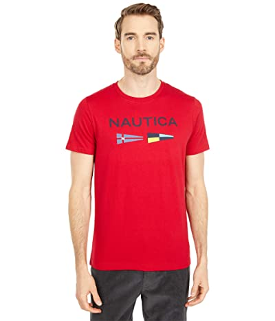 Nautica Signal Flags Graphic T-Shirt (Red) Men