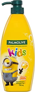 Palmolive Kids 3 in 1 Hypoallergenic Hair Shampoo, Conditioner and Body Wash Minions Funny Honey, 700mL