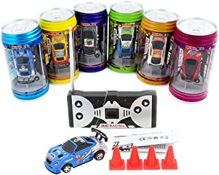 ZHMY Cans Type Mini RC car with 4pcs roadblocks,Color Random,Suitable for The Game