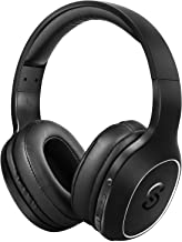 SoundPeats A2 Wireless Bluetooth Headphones with Mic with Upto 20 Hrs Playback, Unique Bass Boost Button, Feather-Light Design, Easy Access Controls, Dual Modes, Immersive HD Sound Experience (Just Black)
