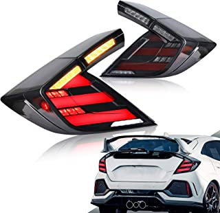 VLAND LED Tail Lights for 10th Gen Honda Civic Hatchback/Type R 2017-2020 Rear Light,with Sequential Turn Signals and Dyna...