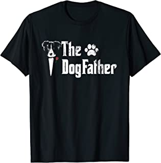 Mens The Dogfather Border Collie Dog Dad Tshirt Father's Day Gif