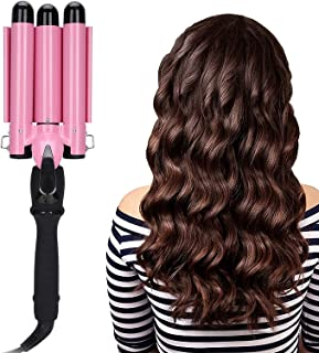 3 Barrel Curling Iron, 3 Barrel Curling Iron Wand Dual Voltage Hair Crimper Hair Curling Iron Crimper Hair Iron Ceramic To...