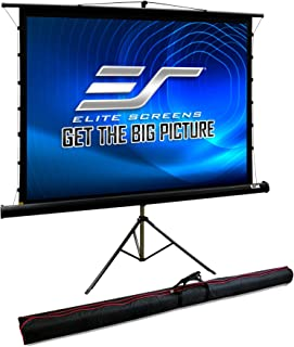 "Elite Screen Tripod Tab-Tension Pro, 100"" Diagonal,4:3 Tab-Tensioned Portable Tripod Projector Projection Screen, TT100UWV-PRO"