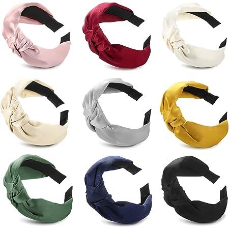 Light Pink Terri Cloth Spa Twist Knot Hard headband 1 1//4 inch wide Grip teeth