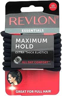 Revlon Extra Thick Black Hair Elastics, 15 Count