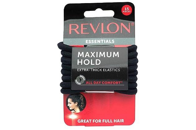 Revlon Extra Thick Black Hair Elastics 914365c6441