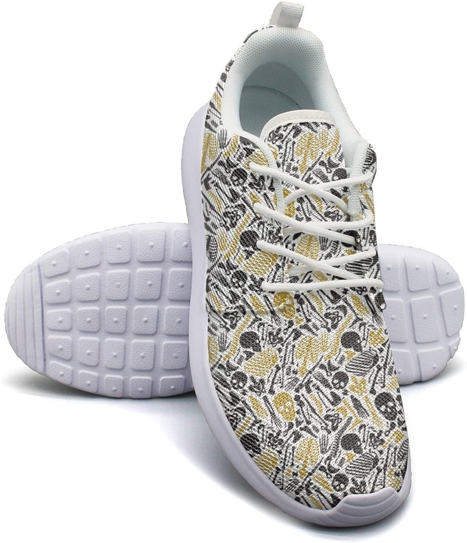 Skeleton Halloween Women's Lightweight Mesh Sneaker Hip Hop Boat shoes