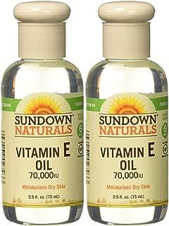 Sundown Naturals Vitamin E Oil 70,000 IU - 2.5 oz, Pack of 2