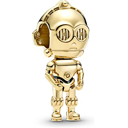 Pandora Star Wars C-3PO Charm en oro negro con aleación de metal chapado en oro de 18 quilates de Star Wars x Pandora Collection