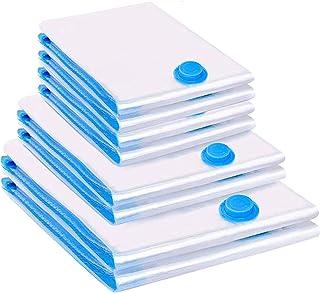 Vacwel 8 Pièces Sacs de Rangement sous Vide 2L (100 x 80 cm) + 2M (80 x 60 cm) + 4S (60 x 40 cm) Réutilisable pour Vêtemen...
