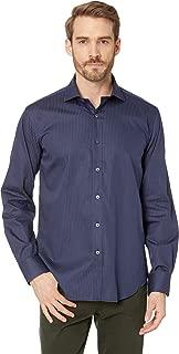 Bugatchi Mens Long Sleeve Shaped Fit Woven Shirt