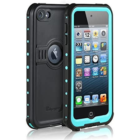 Blue meritcase Waterproof Case for iPod 7 iPod 5 iPod 6 Waterproof Shockproof Dirtproof Snowproof Case Cover with Kickstand for Apple iPod Touch 5th//6th//7th Generation for Swimming Diving Surfing