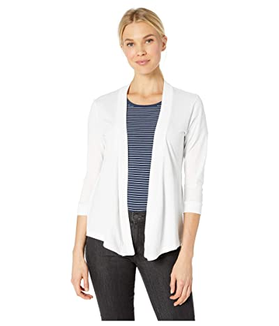 Mod-o-doc Supreme Jersey Mid Sleeve Cardigan (White) Women