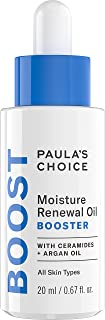 Paula's Choice BOOST Moisture Renewal Oil Booster, Ceramides & Argan Oil Serum for Redness Relief, Dry Skin, 0.67 Ounce
