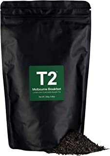 T2 Tea Melbourne Breakfast Loose Leaf Black Tea in Resealable Foil Refill Bag, 250g (8.8 Ounce)