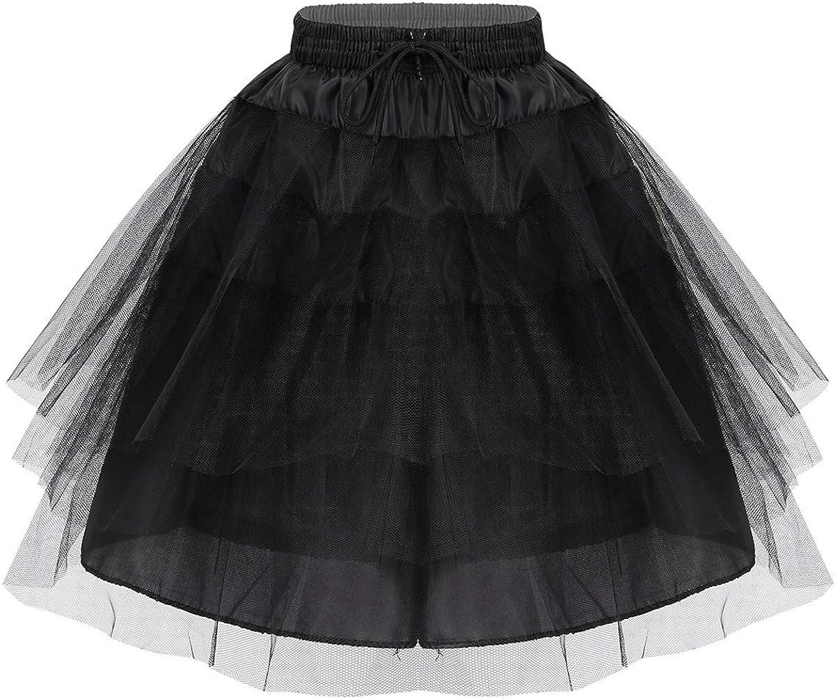 ranrann Kids Girls Hoopless Crinoline Slip Underskirt Flower Girls Dress Petticoat Underskirt