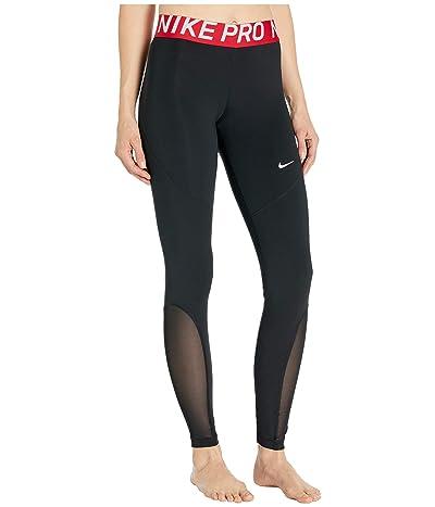 Nike Pro Tights (Black/Gym Red/White) Women