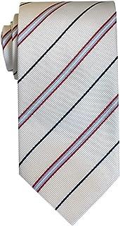 Remo Sartori - Cravatta in pura Seta Regimental a Righe Blu Bianche e Rosse, Made In Italy, Uomo