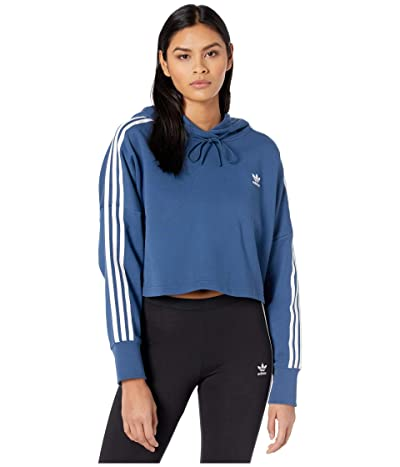 adidas Originals Cropped Hoodie (Night Marine/White) Women