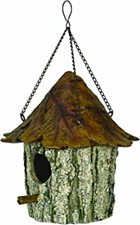 River's Edge Products 615 River's Edge Oak and Tree Leaf Birdhouse, Brown