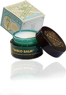 BABLO バーム メンズ男性用 ヘアバーム・髪スタイリング・練り香水 髭顔ボディ保湿 ムスクの香り