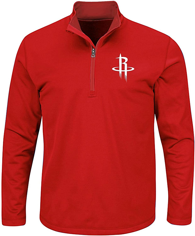 Mens Houston Rockets All in 1 4 Birdeye Polyester Performance Fleece Jacket Big & Tall 2XL Tall